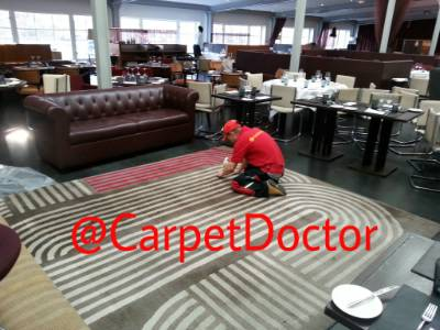 Carpet repair and cleaning.